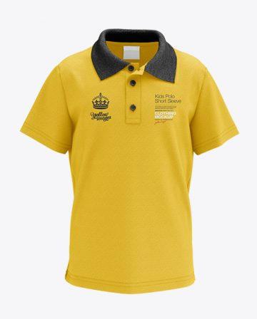 Kids Polo HQ Mockup - Front View