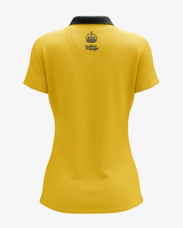 Womens Polo HQ Mockup - Back View