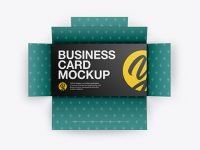Open Case With Five Business Cards Mockup