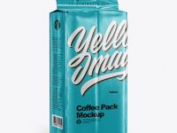 Metallic Coffee Pack Mockup