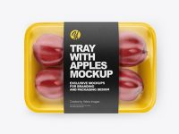 Tray with Red Apples Mockup