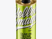 250ml Metallic Olive Oil Tin Can Mockup