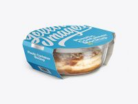 Food Container w/ Donut Mockup