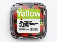 Container w/ Strawberry Mockup