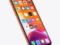 iPhone XR Coral Mockup