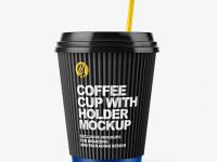 Coffee Cup with Straw Mockup