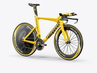 Carbon Triathlon Bicycle Mockup - Halfside View