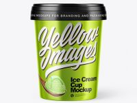 Metallized Ice Cream Cup Mockup