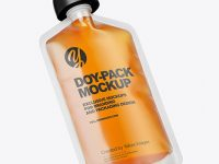 Doy-Pack with Honey Mockup