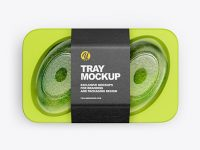 Plastic Tray with Avocado Mockup