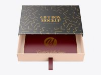 Opened Gift Box Mockup - Front View