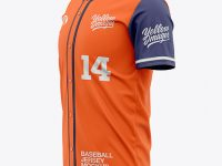 Men's Baseball Jersey Mockup - Side View