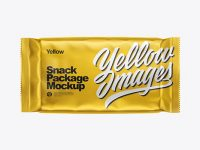 Matte Metallic Snack Package Mockup