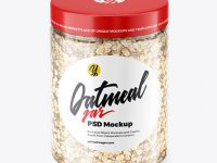 Jar with Oat Mockup