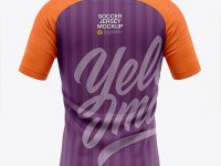 Men's Soccer Raglan Jersey Mockup - Back View