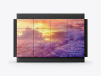Cubic LED Video Wall Mockup - Front View