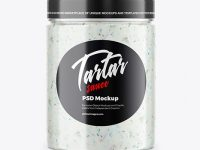 Jar with Tartar Sauce Mockup