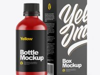 Matte Bottle & Box Mockup