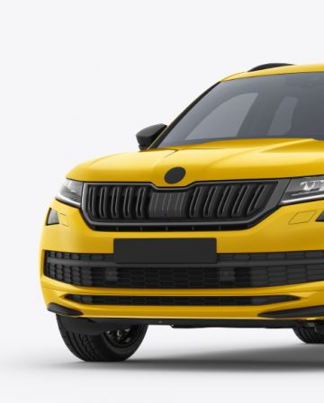 SUV Crossover Car Mockup - Front Half Side View
