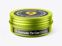 60g Matte Metallic Cosmetic Tin Can Mockup