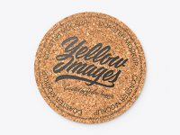 Cork Beverage Coaster Mockup