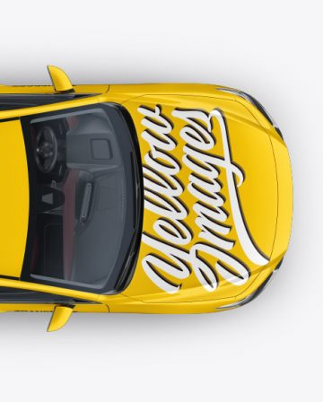 Hatchback Mockup - Top View