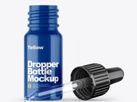 Opened Glossy Dropper Bottle Mockup