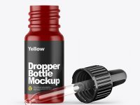 Opened Matte Dropper Bottle Mockup