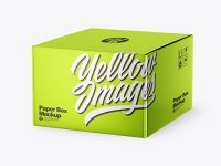 Metallized Paper Box Mockup