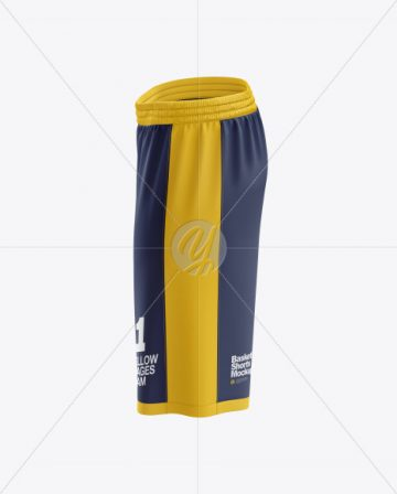 Men's Basketball Shorts mockup (Side View)