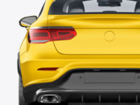 Coupe Crossover SUV Mockup - Back View