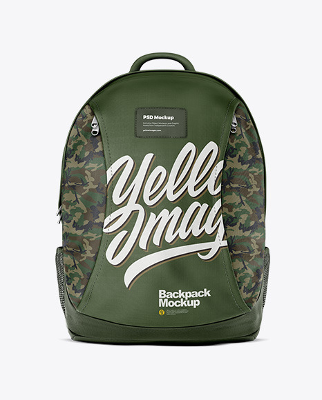 Backpack Mockup - Front View