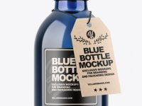 Blue Bottle Mockup