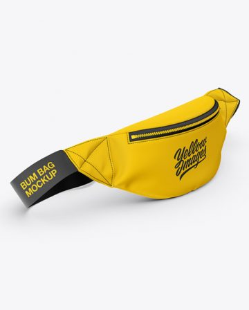 Fanny Pack Mockup - Front Half-Side View