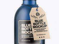 Frosted Blue Bottle Mockup