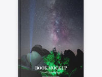 Book w/ Matte Cover Mockup - Top View