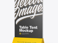 Glass Table Tent Mockup