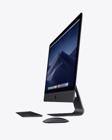 IMac Pro Mockup with Keyboard and Mouse