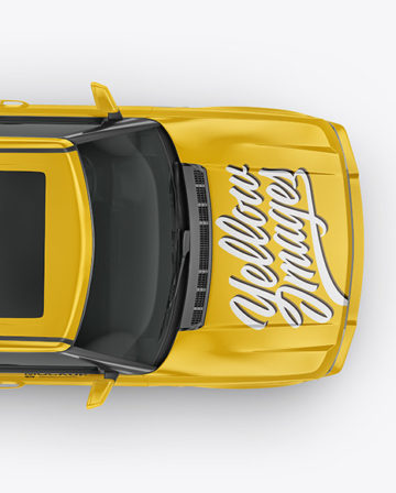 Crossover SUV Mockup - Top View