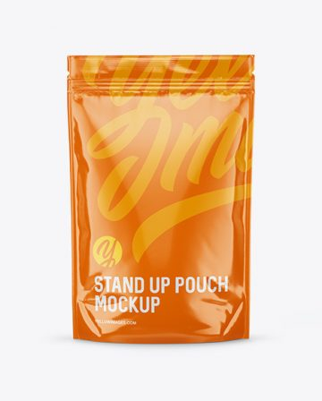 Glossy Stand Up Pouch Mockup