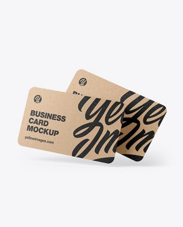 Kraft Business Cards Mockup