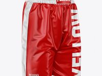 Boxing Shorts Mockup - Half Side View