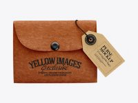 Leather Purse w/ Label Mockup
