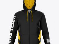 Zipped Hoodie - Front View