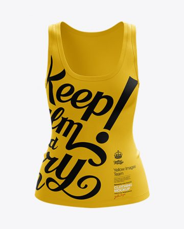 Womens Tank Top Premium Mockup Front View