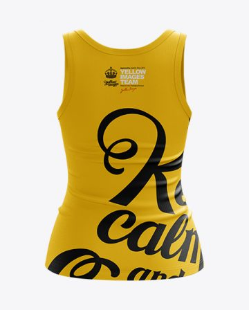 Womens Tank Top Premium Mockup Back View