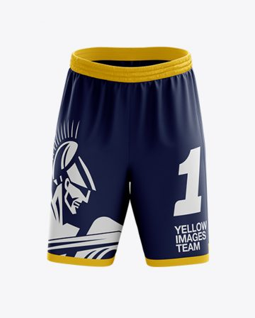 Basketball Shorts Mockup - Front & Back View