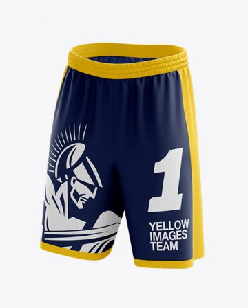 Basketball Shorts Mockup - Front 3/4 View