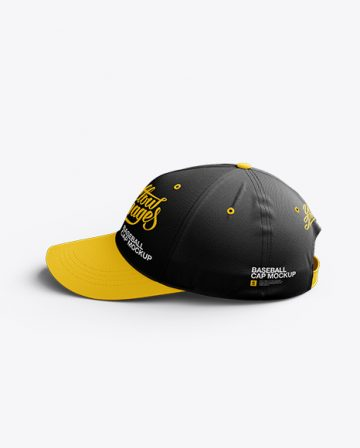 Baseball Cap Mockup / Side View