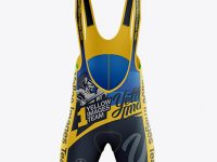 Men's Cycling Bib Shorts Mockup - Front View